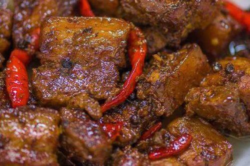 Easy Spicy Pork Adobo Na Tuyo Recipe Ang Sarap Recipes