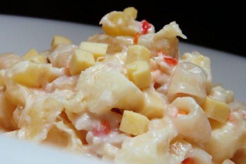 Easy Cheesy Chicken Macaroni Salad Recipe Ang Sarap Recipes